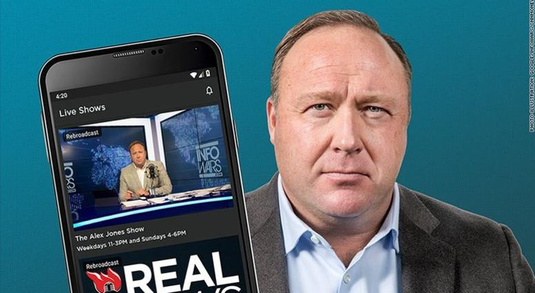 InfoWars app still in Google, Apple stores after companies move against other content