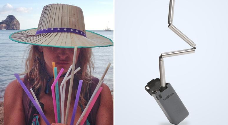 This foldable metal straw raised nearly $2 million on Kickstarter. Disgusted by finding discarded plastic straws on beaches, Emma Cohen helped bring an environmentally-friendly alternative to the market.