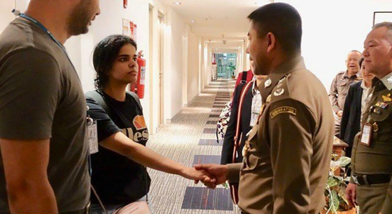 Rahaf Mohammed al-Qunun was released from the airport and is now under the protection of the UNHCR and Thai authorities.