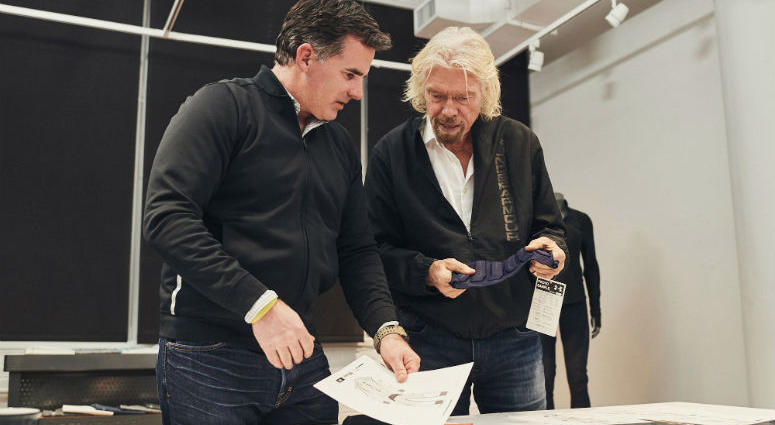 Virgin Group founder Richard Branson and Under Armour founder and CEO Kevin Plank announced a partnership between the apparel brand and Virgin Galactic.