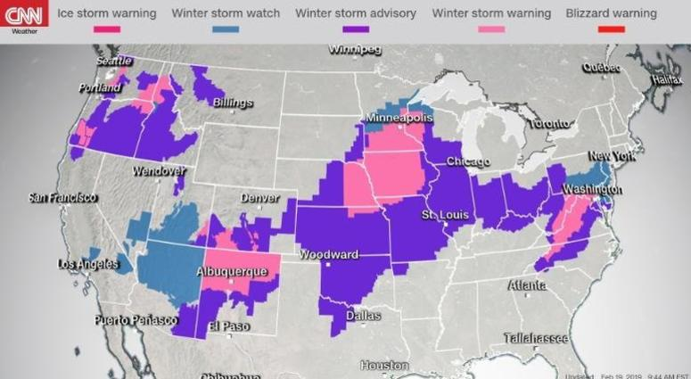 Washington and Baltimore to take the storm's brunt