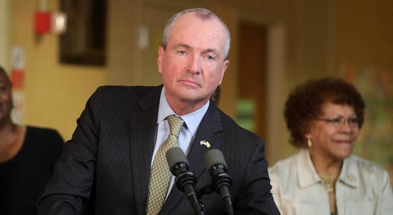 June 28, 2018; Trenton, NJ, USA; New Jersey Governor Phil Murphy during a press conference as he talks about the budget impasse.