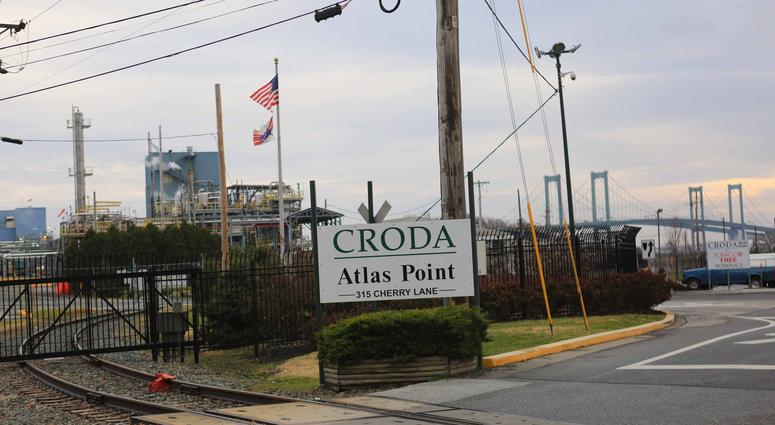 Croda Inc., in New Castle located at the base of the Delaware Memorial Bridge had a toxic release leaking ethylene oxide, an extremely flammable gas, from a tank on the site, causing the bridge to be shut down for several hours on Sunday night.