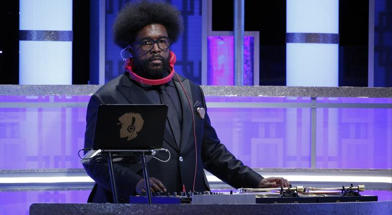 Jan 8, 2017; Beverly Hills, CA, USA; Questlove the onstage dj during the 74th Golden Globe Awards at Beverly Hilton.