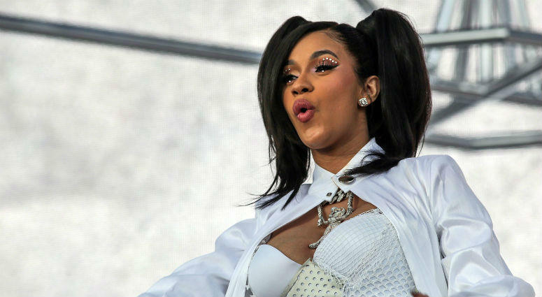 Apr 15, 2018; Indio, CA, USA; Cardi B performs at the Coachella Valley Music and Arts Festival at Empire Polo Club.