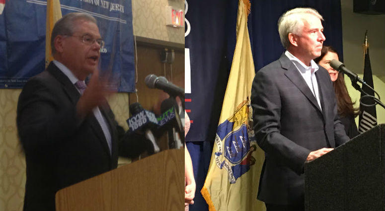 Senators Bob Menendez and Bog Hugin