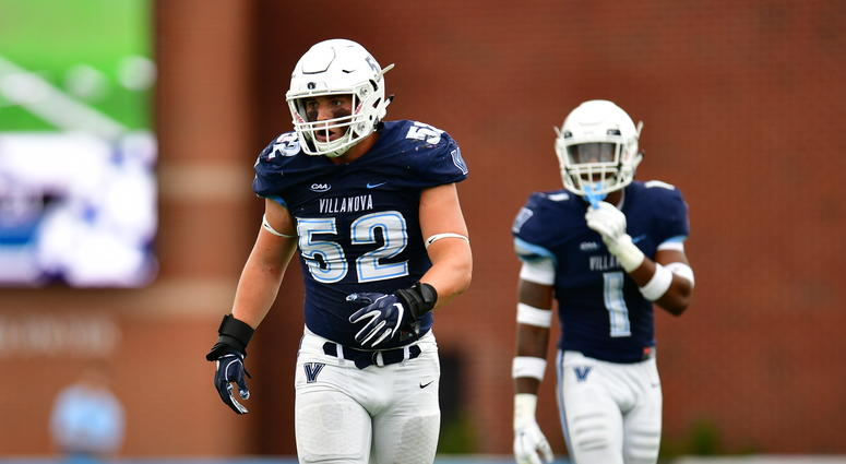 Villanova linebacker Drew Wiley.