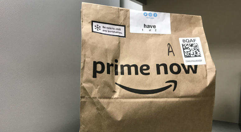 Amazon Prime Now delivery