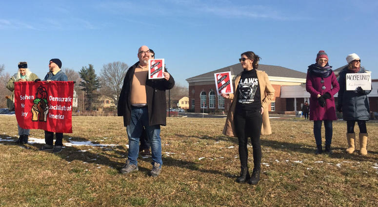 South Jersey Democratic Socialists and Moore Unity combined to push back against messaging from KKK in Moorestown, N.J.