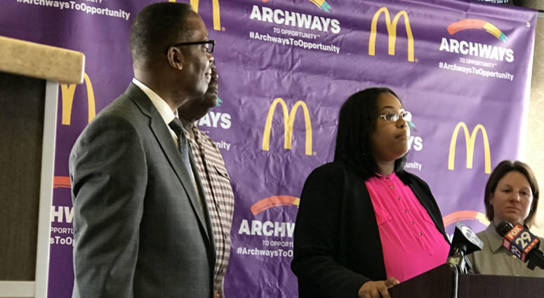 Danielle Dawkins Austin is the co-owner of two McDonald's restaurants in North Philadelphia.