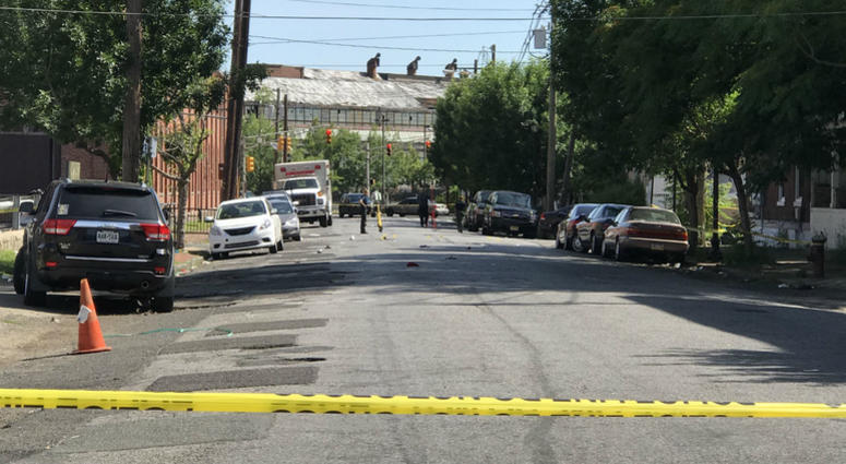 Police are on the scene after a shooting incident at Art All Night in Trenton, N.J.