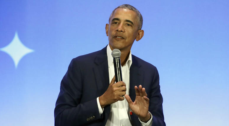 This Feb. 19, 2019, file photo shows former President Barack Obama speaking at the My Brother's Keeper Alliance Summit in Oakland, Calif.