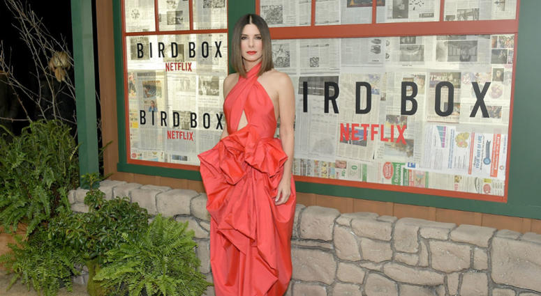 Actress Sandra Bullock attends the New York screening of 'Bird Box' at Alice Tully Hall, Lincoln Center on December 17, 2018 in New York City.