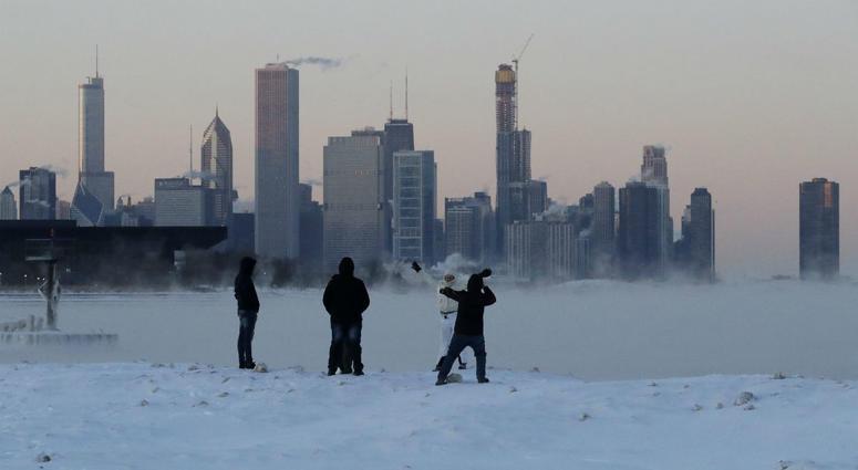Lake Michigan at 31st Street Harbor, Wednesday, Jan. 30, 2019, in Chicago.