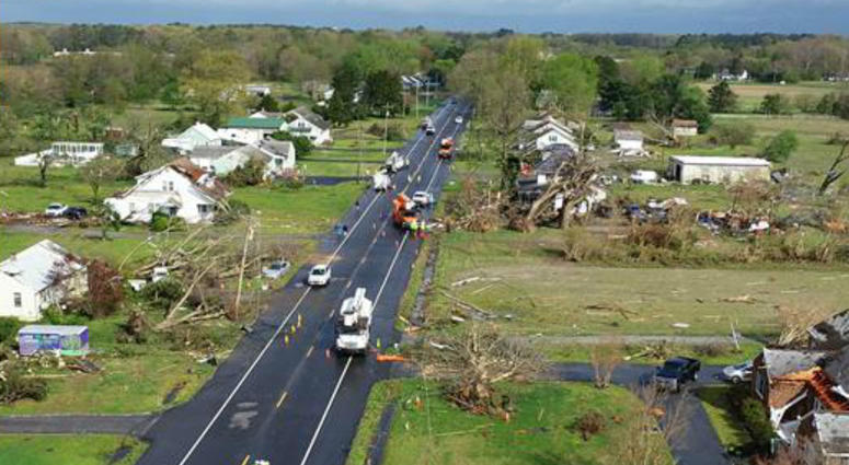 The National Weather Service confirmed that an EF-2 tornado hit Sussex County, Del., early Monday morning.