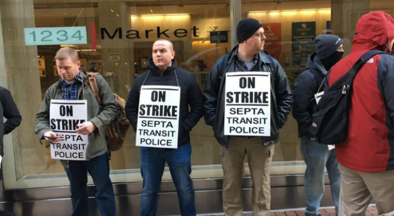 SEPTA transit police union have called a strike.