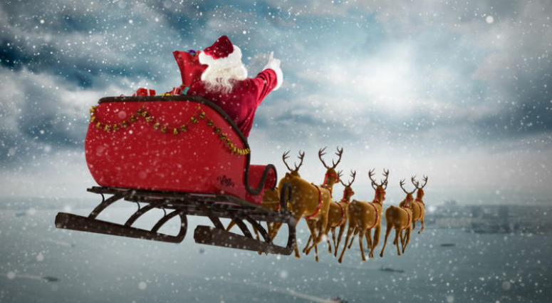 If Santa stops at every child's house on Christmas Eve, how long would he have to spend at each home, and how fast would he have to travel?