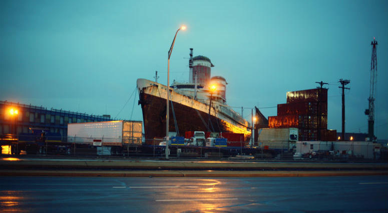 """The SS United States has been docked on the Delaware River in South Philadelphia for years. Now, another suitor may be stepping up to restore """"America's Flagship."""""""