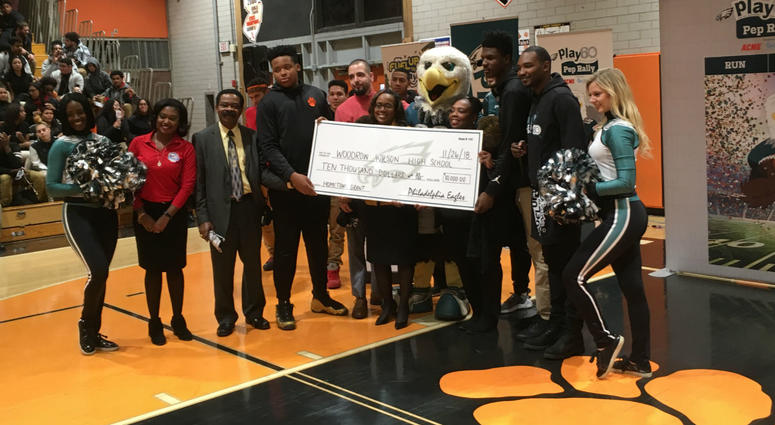 The NFL gave Woodrow Wilson High School $10,000 to upgrade the football field.