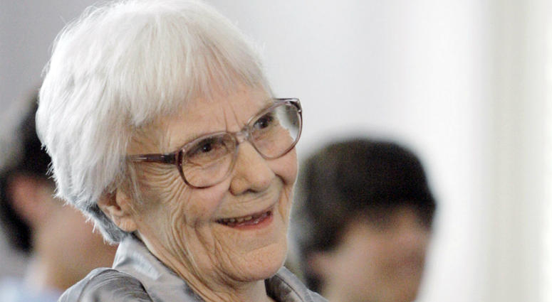 """In this Aug. 20, 2007, file photo, """"To Kill A Mockingbird"""" author Harper Lee smiles during a ceremony honoring the four new members of the Alabama Academy of Honor, at the state Capitol in Montgomery, Ala."""