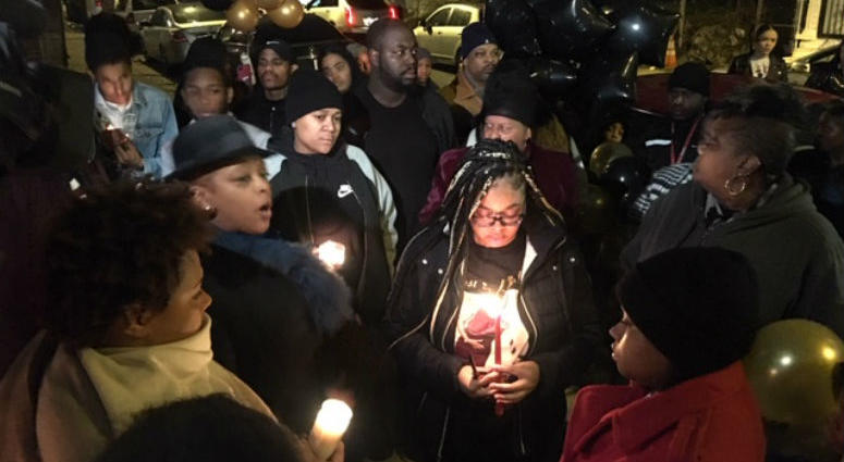 Friends, family and neighbors of Isis Williams gathered in East Germantown on Monday night.