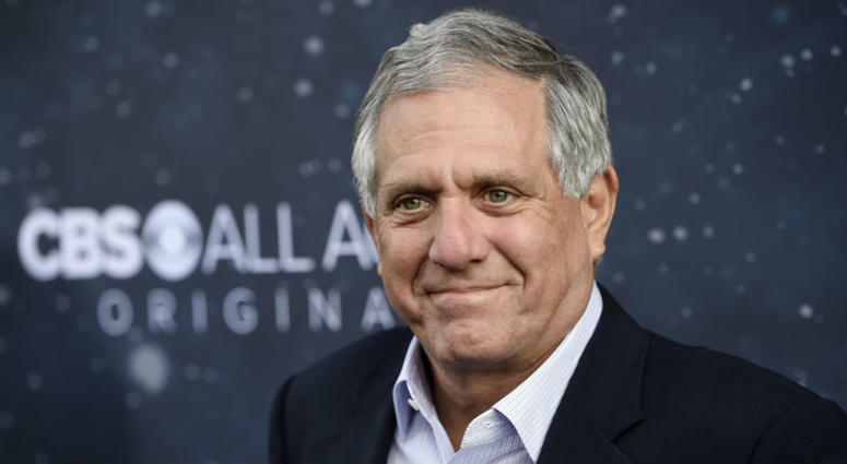 """In this Sept. 19, 2017 file photo, Les Moonves, chairman and CEO of CBS Corporation, poses at the premiere of the new television series """"Star Trek: Discovery"""" in Los Angeles."""