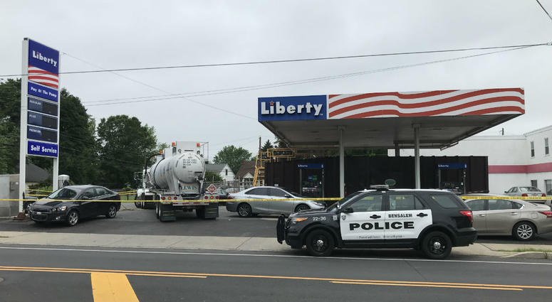 Liberty gas station and Vigilante Service Center in the 1200 block of Bristol Pike