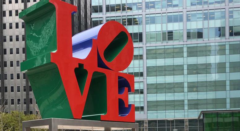 Love Park statue