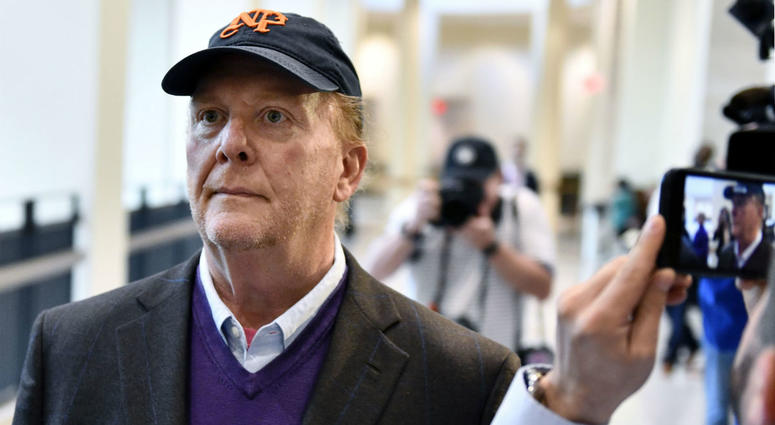 Chef Mario Batali arrives for arraignment, Friday, May 24, 2019, at municipal court in Boston, on charges he forcibly kissed and groped a woman at a Boston restaurant in 2017.