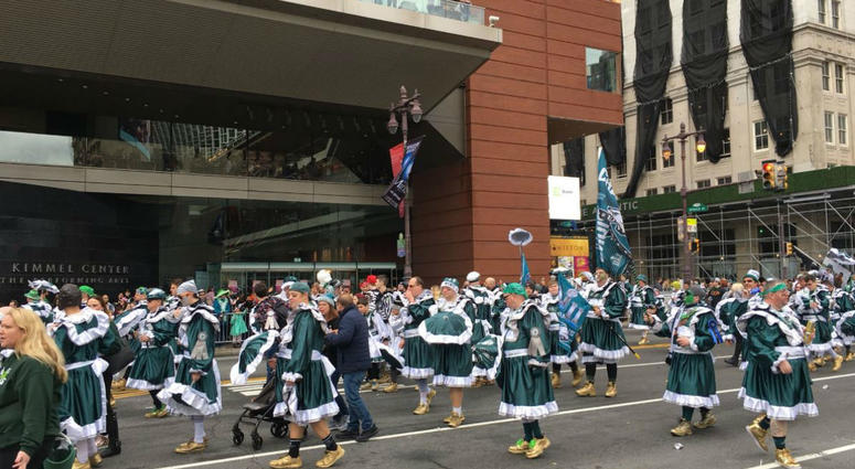 A lot of Eagles love at the 2019 Mummers Parade.