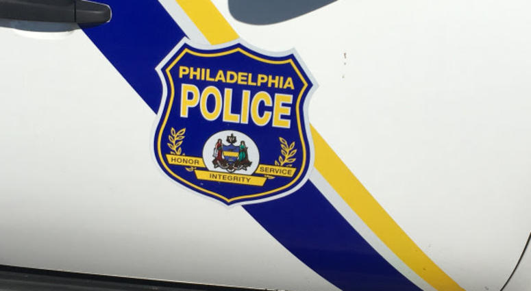 Philadelphia police vehicle.
