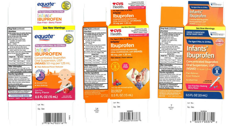 Three lots of infant ibuprophen have been recalled.