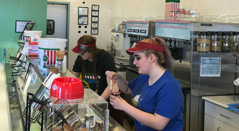 Free Italian ice on first day of spring at Rita's