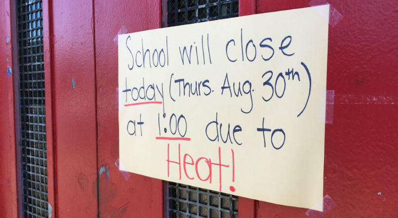 Three out of the first four days of school were cut short this week because of sweltering classrooms.