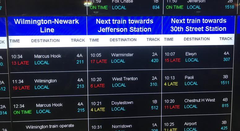 Lots of delays and hectic rides to work on SEPTA regional rail.