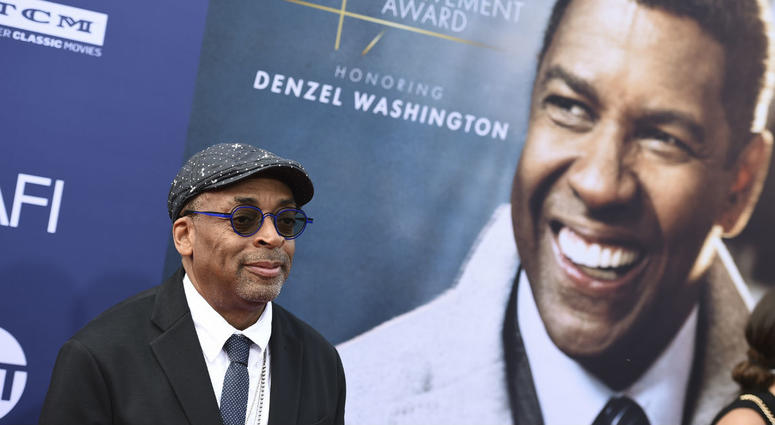 Spike Lee arrives at the 47th AFI Life Achievement Award honoring Denzel Washington at the Dolby Theatre on Thursday, June 6, 2019 in Los Angeles.