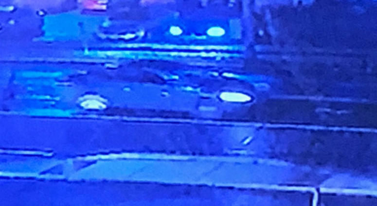 A photo of the car involved in a hit and run on Tuesday night.