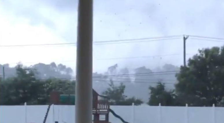 A tornado touched down in Mulica Hill, N.J.