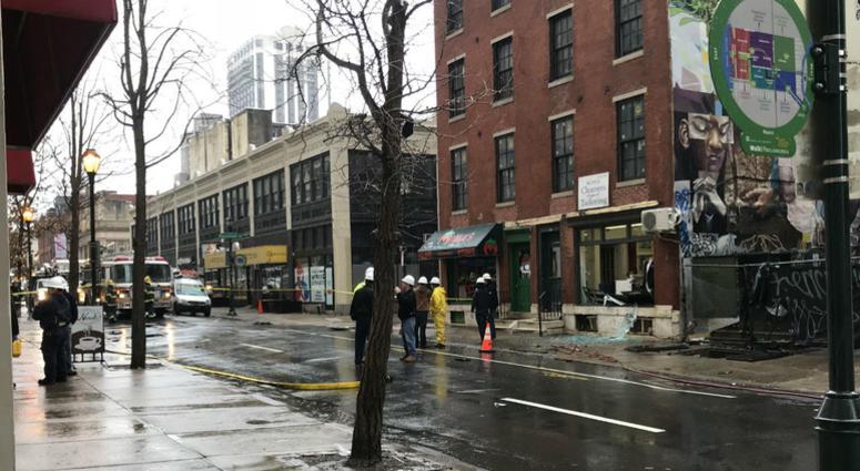 An explosion occurred on 20th Street near Ranstead Street.