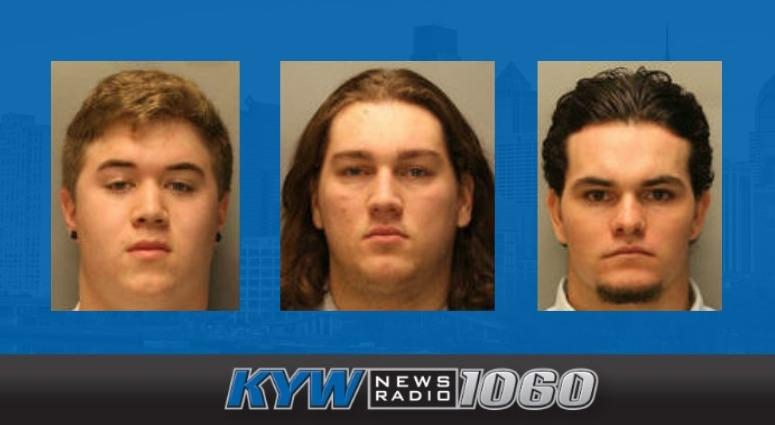 From left: Ryan Gricco, Jake Cross and Brock Anderson