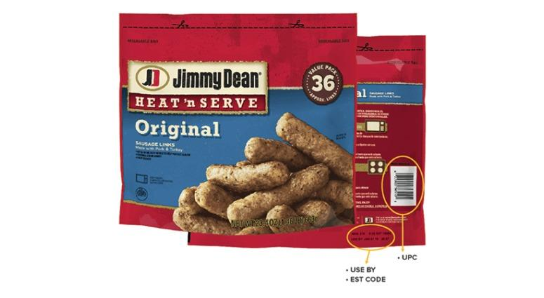 A brand of Jimmy Dean breakfast sausages has been recalled.