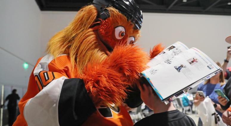 Gritty at the 2019 NHL All-Star Fan Fair