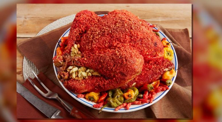 Reynolds Kitchens has created a Hot Cheetos turkey recipe.
