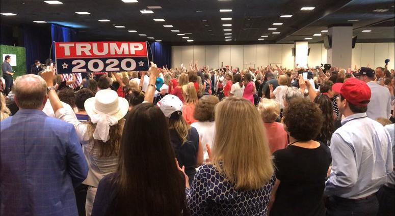 Republican National Committee Chairwoman Ronna McDaniel opens the Women for Trump rally in King of Prussia.