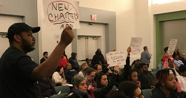 In its first vote on new charter schools, the Philadelphia school board denied all three applications before it.