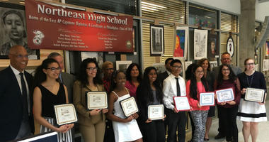 The School District of Philadelphia recognized the first nine graduates of  Northeast High School's two-year AP Capstone program.