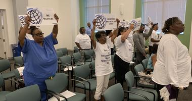 A West Philadelphia charter school wants the school board's blessing to run a high school. But that blessing hasn't come.