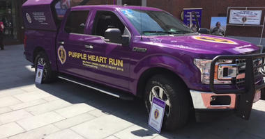 Sgt. Justin Burdette is going to put 7,800 miles on the truck as he heads toward Spokane, Washington, for the Purple Heart Truck Run 2018.