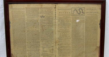 18th century newspaper turns up at Goodwill.