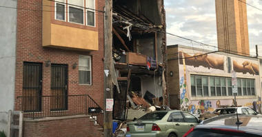 An explosion happened at a home on 20th Street near Federal Street in South Philadelphia Monday night.